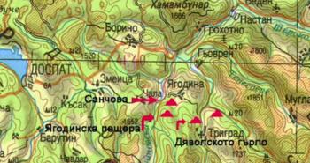 Пещера на карте